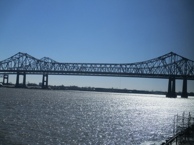 Mississippi River bridge, New Orleans